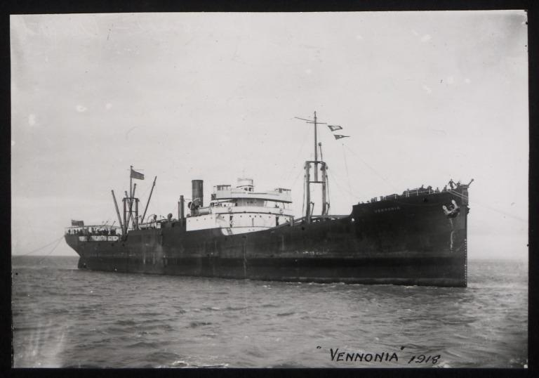 Photograph of Vennonia, Cunard Line card