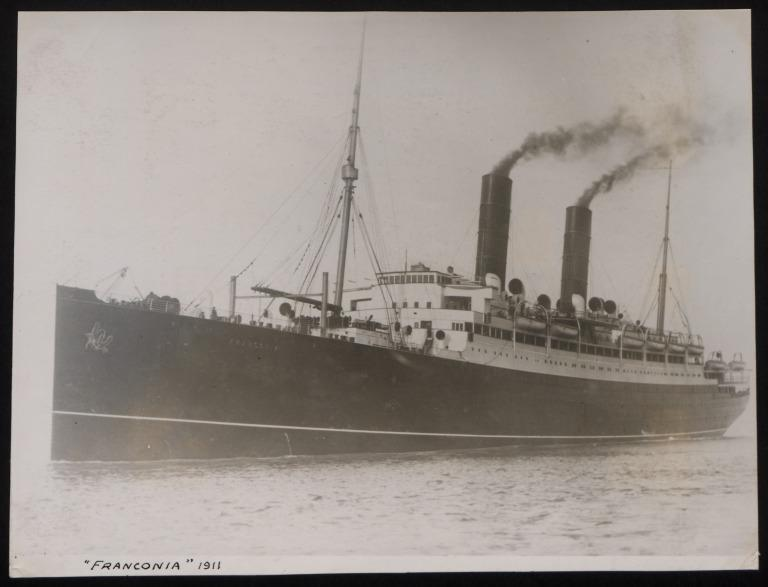 Photograph of Franconia, Cunard Line card