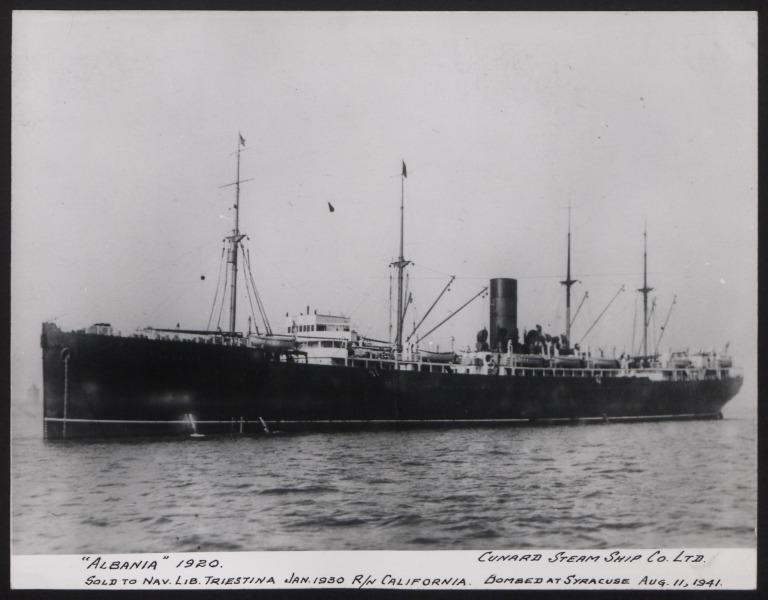 Photograph of Albania, Cunard White Star card