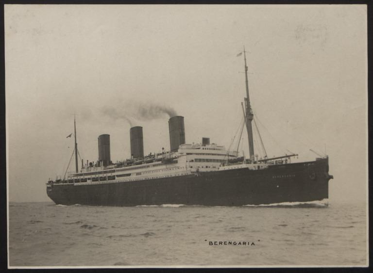 Photograph of Berengaria, Cunard White Star Line card