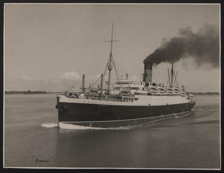 Photograph of Ausonia, Cunard White Star Line card