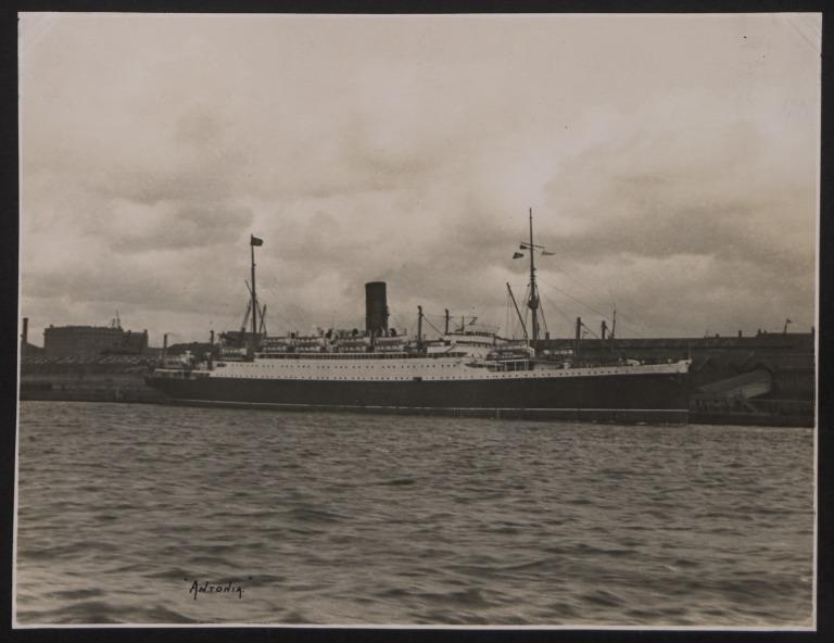Photograph of Antonia, Cunard White Star Line card