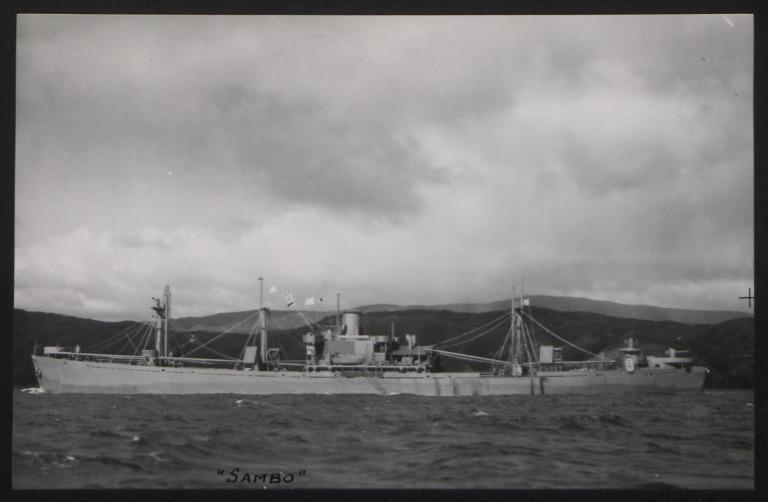 Photograph of Sambo, Cunard White Star Line card