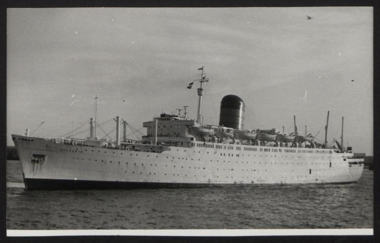 Photograph of Sylvania, Cunard White Star Line card