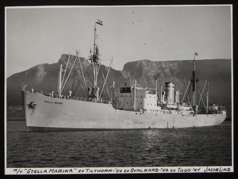 Photograph of Stella Marina (ex Tilthorn, Svalbard, Togo), Jacob Lind card