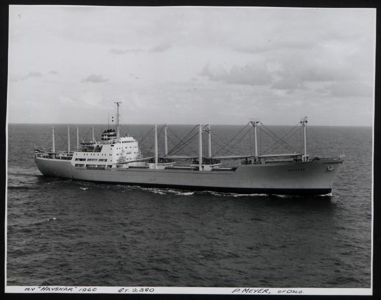 Photograph of Havskar, P Meyer card