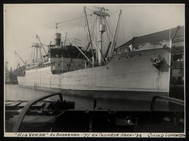 Photograph of Rio Verde (ex Shoreham, Therese, Horn), Oivind Lorentzen card
