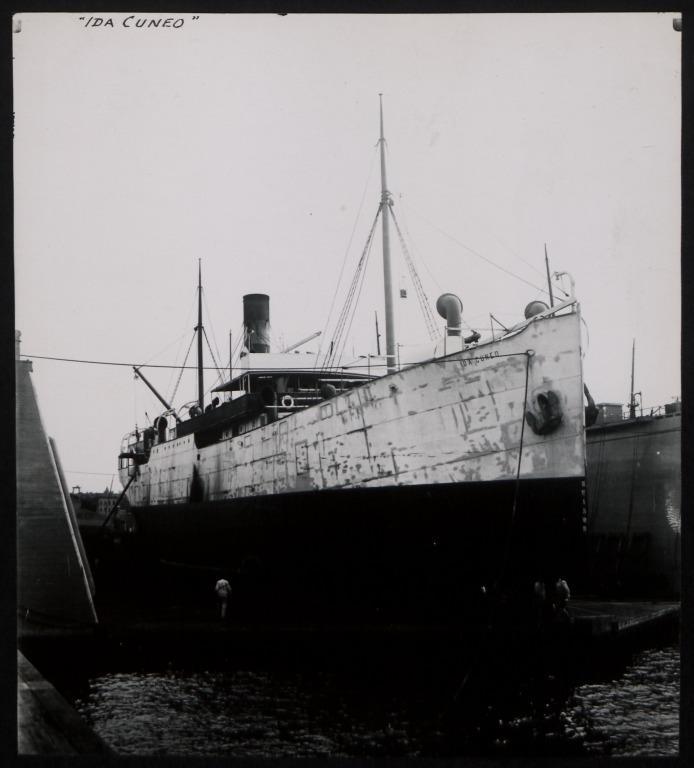 Photograph of Ida Cuneo (r/n Nyteer), Alf Monsen card