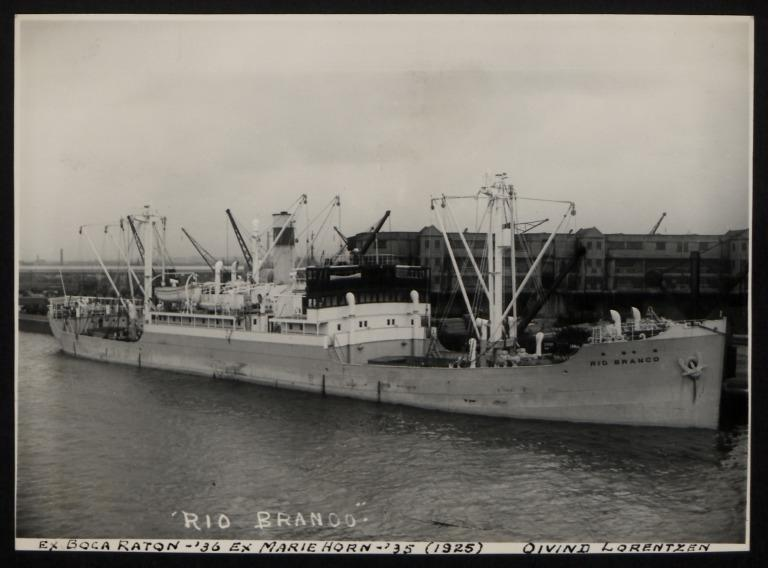 Photograph of Rio Branco (ex Boca Raton, Marie Horn), Oivind Lorentzen card