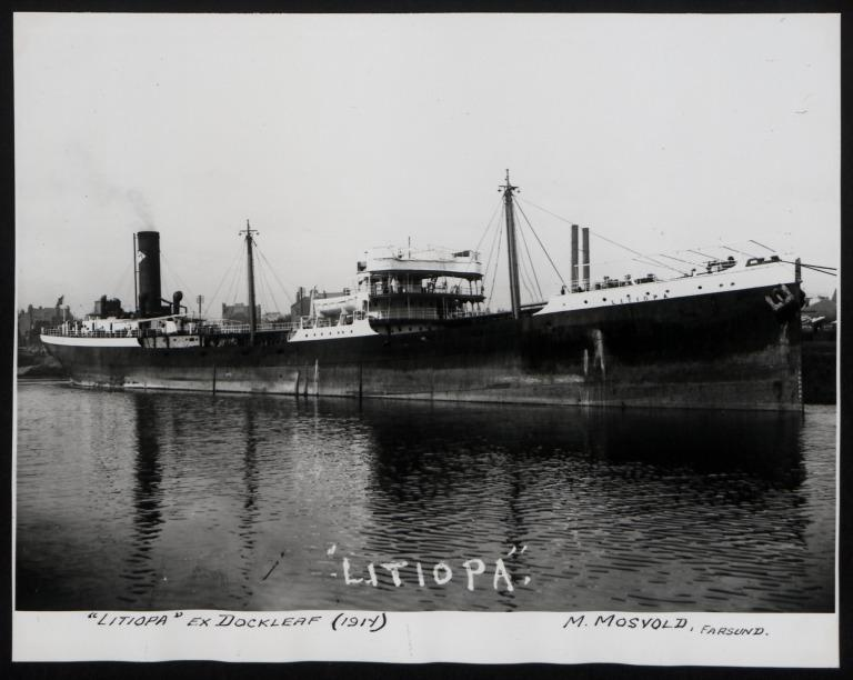 Photograph of Litiopa (ex Dockleaf), M Mosvold card