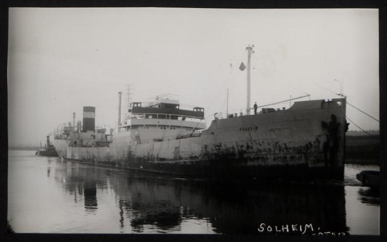 Photograph of Solheim (ex Norbris), Chr Nielsen and Co card