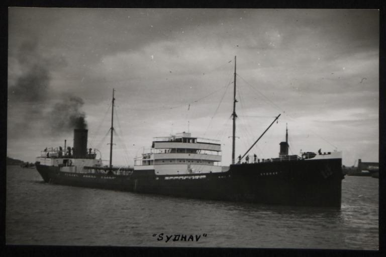 Photograph of Sydhav, T Lodding card