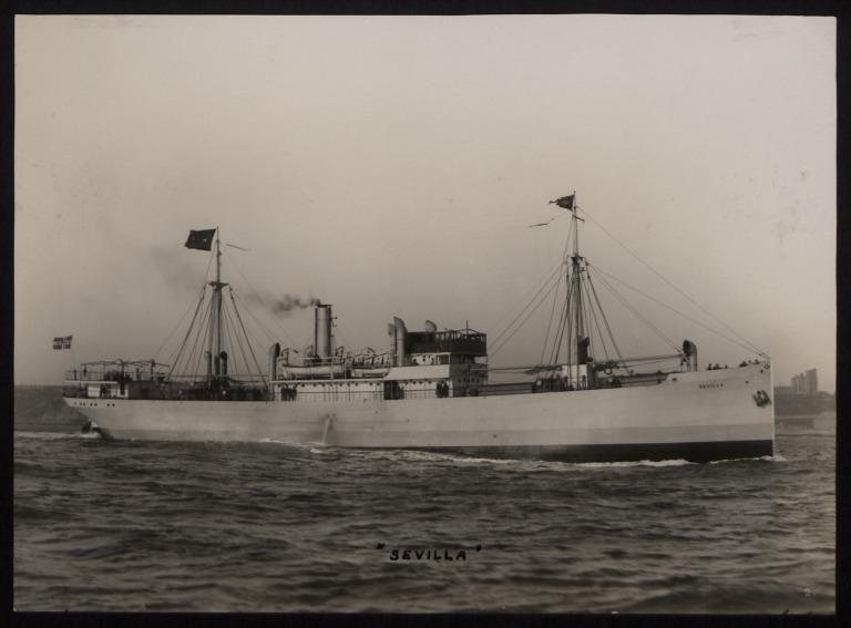 Photograph of Sevilla, Fred Olsen card