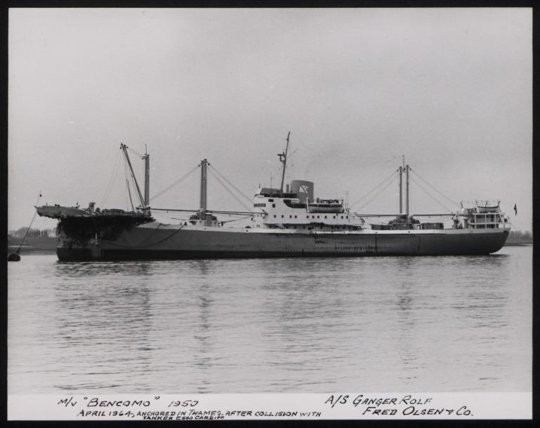 Photograph of Bencomo, Fred Olsen card