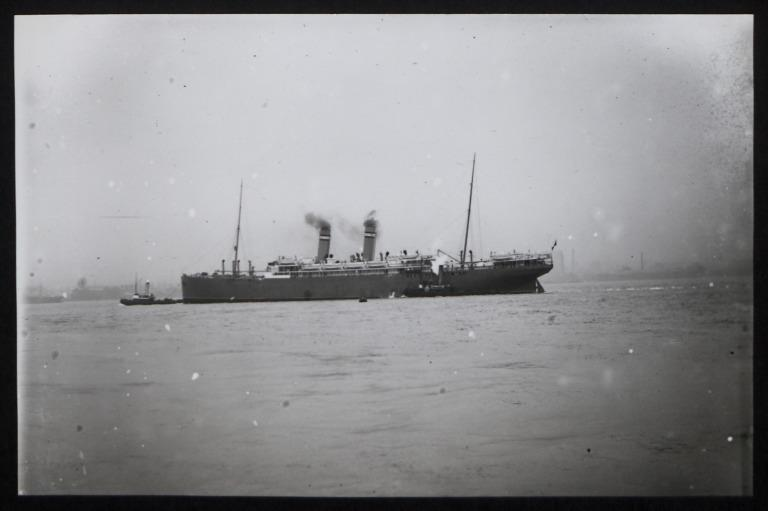 Photograph of Kristianiafjord, Norwegian American Line card
