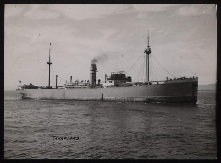 Photograph of Tanafjord, Norwegian American Line card