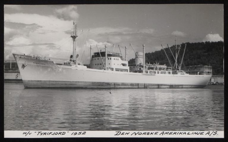 Photograph of Tyrifjord, Norwegian American Line card