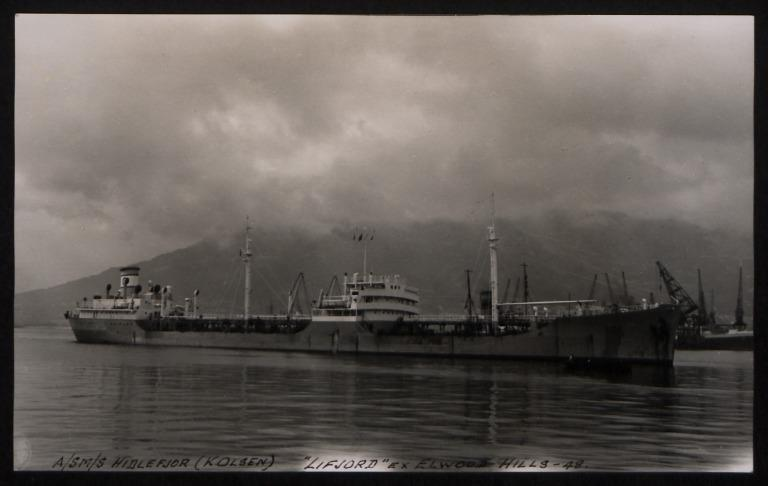 Photograph of Lifjord (ex Elwood Hills), Kornelius Olsen card