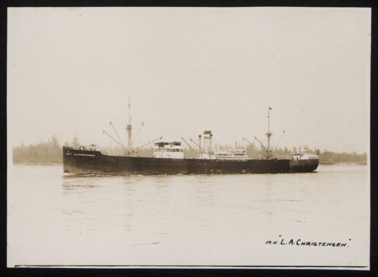 Photograph of L A Christensen, Hjalmar Roed and Co card