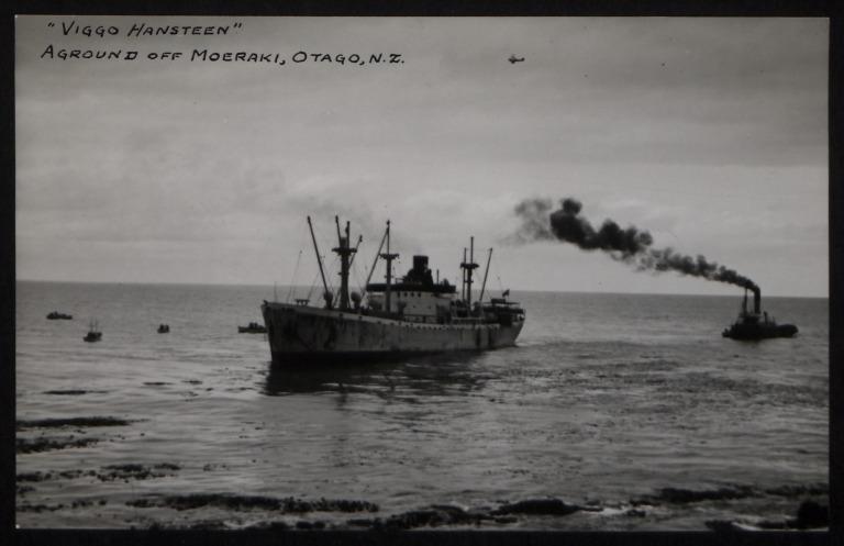 Photograph of Viggo Hansteen (ex George M Shriver), J F Galtung card