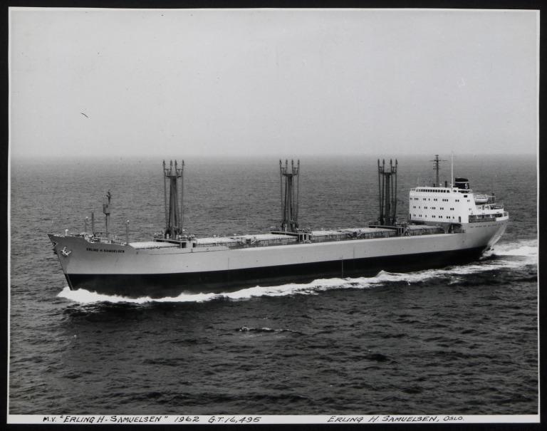 Photograph of Erling H Samuelsen, E H Samuelsen card