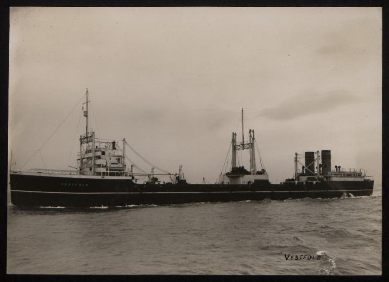 Photograph of Vestfold, J Rasmussen and Co card