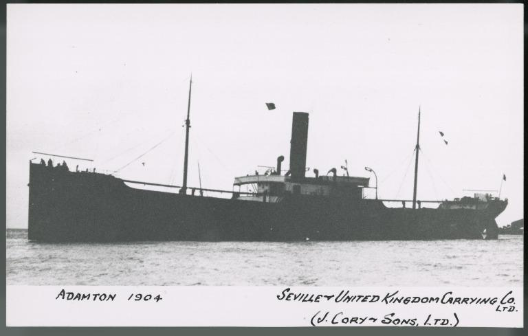 Photograph of Adamton, J Cory and Sons card