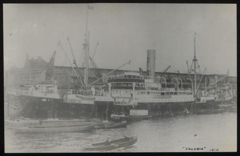 Photograph of Valesia (r/n Palmares, Belmonte), Hamburg Amerika Line card