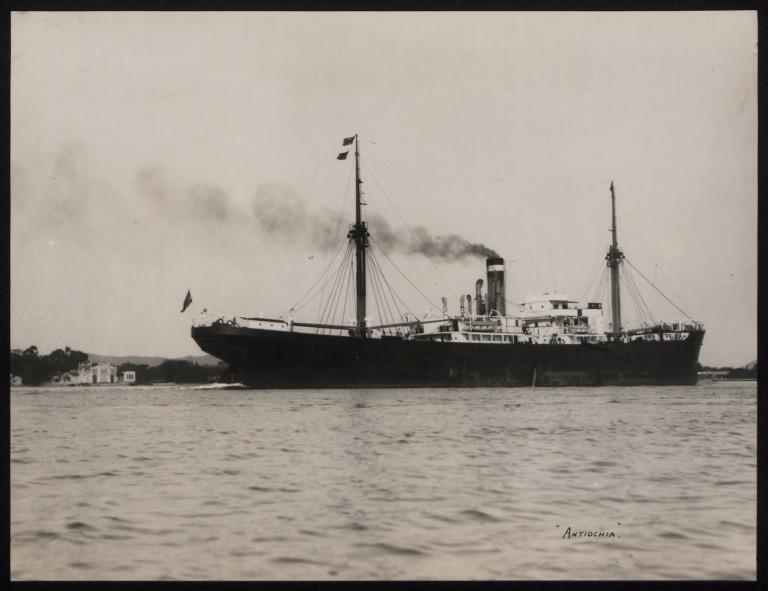 Photograph of Antiochia, Hamburg Amerika Line card