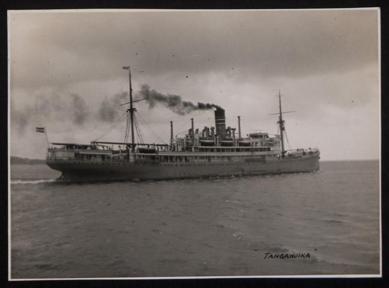 Photograph of Tanganjika, Hamburg Amerika Line card