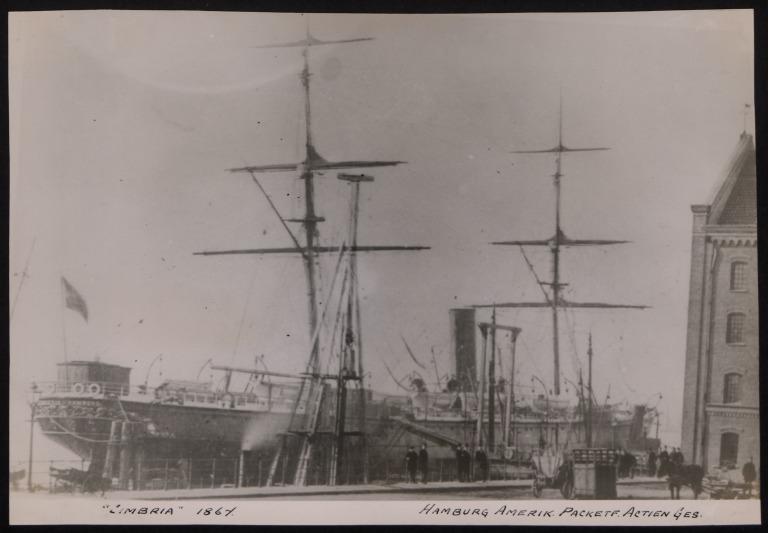 Photograph of Cimbria, Hamburg Amerika Line card