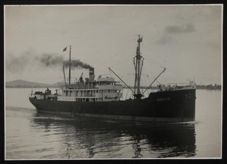 Photograph of Durazzo, Hamburg Amerika Line card