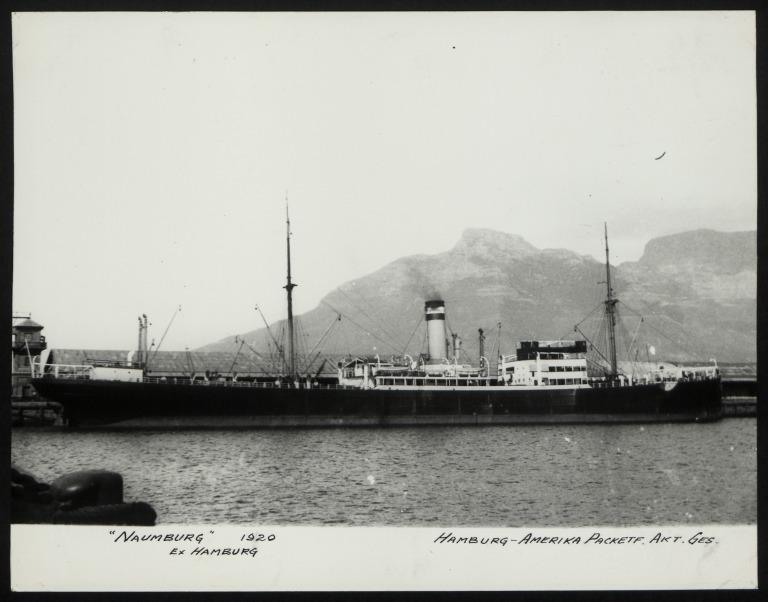 Photograph of Naumberg (ex Hamburg), Hamburg Amerika Line card