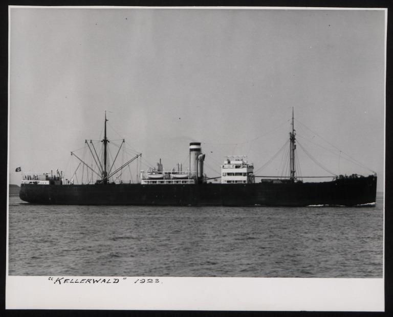 Photograph of Kellerwald, Hamburg Amerika Line card
