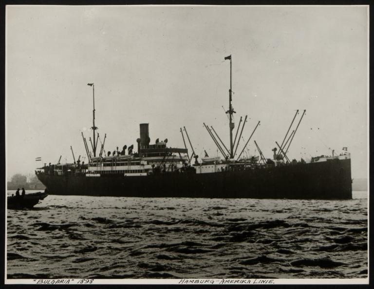 Photograph of Bulgaria (r/n Canada, Hercules, Phillipines), Hamburg Amerika Line card