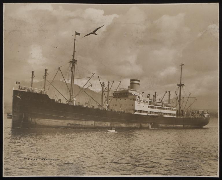 Photograph of San Francisco, Hamburg Amerika Line card