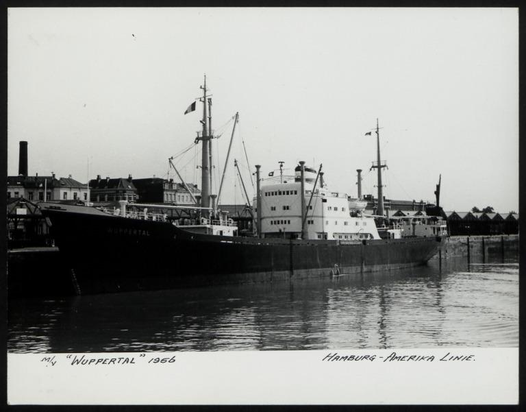 Photograph of Wuppertal, Hamburg Amerika Line card