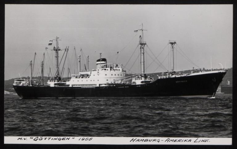 Photograph of Gottingen, Hamburg Amerika Line card
