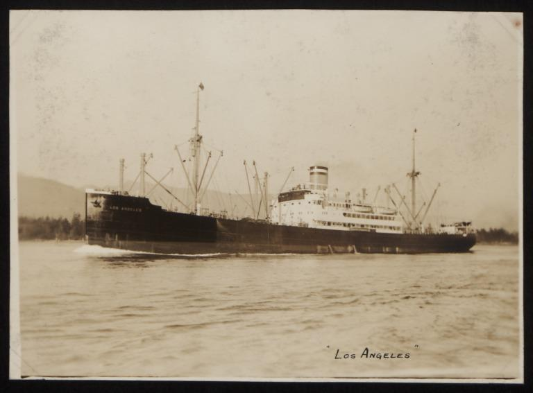 Photograph of Los Angeles (r/n Roda), Hamburg Amerika Line card