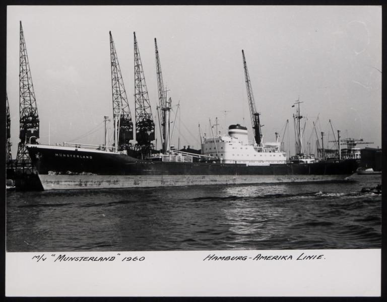 Photograph of Munsterland, Hamburg Amerika Line card
