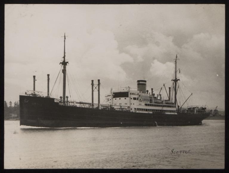 Photograph of Seattle, Hamburg Amerika Line card