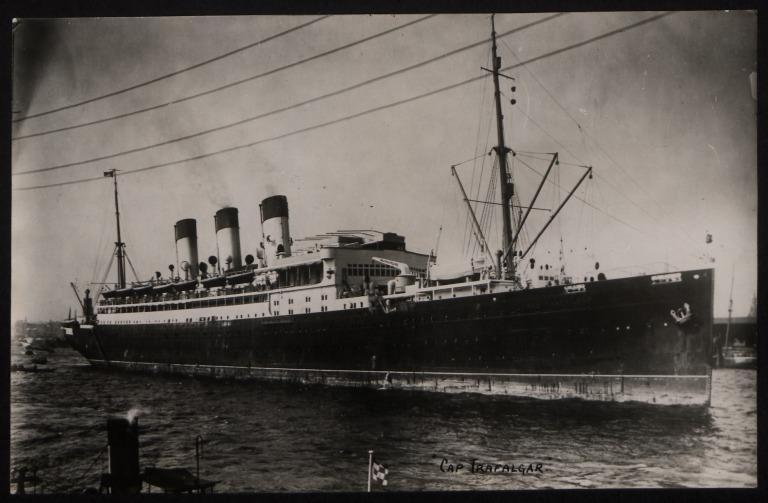 Photograph of Cap Trafalgar, Hamburg Sudamerika Line card