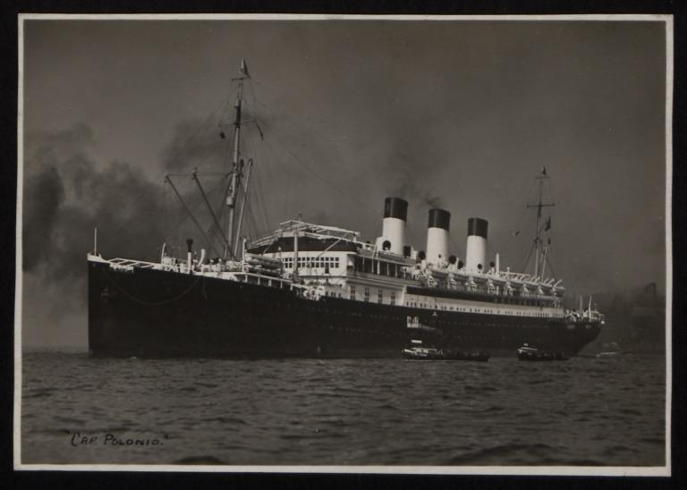 Photograph of Cap Polonio, Hamburg Sudamerika Line card
