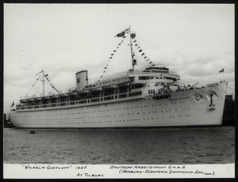 Photograph of Wilhelm Gustloff, Hamburg Sudamerika Line card