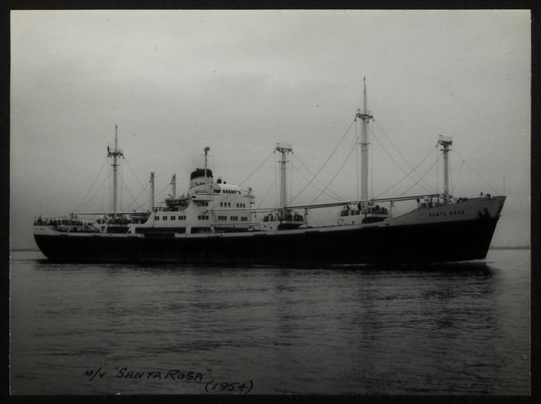 Photograph of Santa Rosa, Hamburg Sudamerika Line card