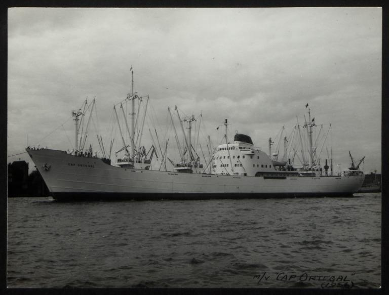 Photograph of Cap Ortegal, Hamburg Sudamerika Line card