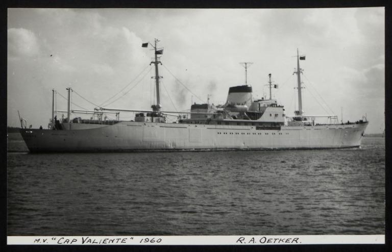 Photograph of Cap Valiente, Rudolph A Oetker card