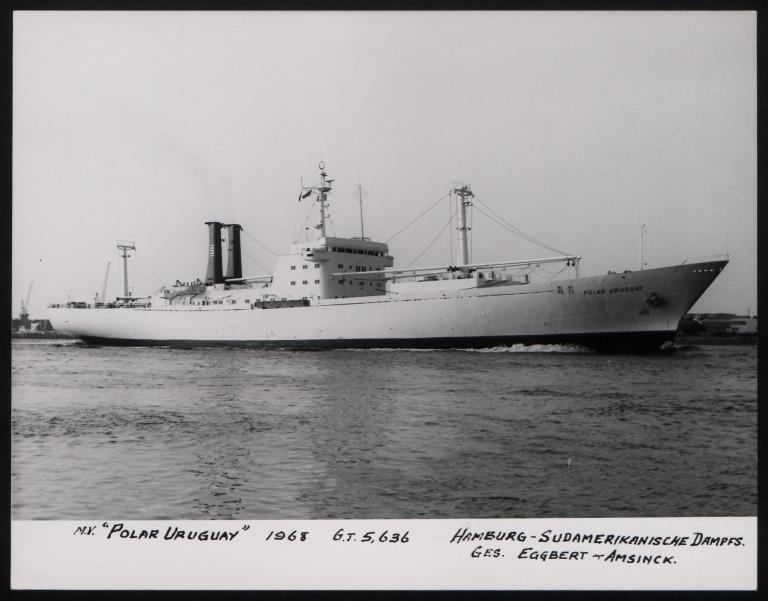 Photograph of Polar Uruguay, Hamburg Sudamerika Line card