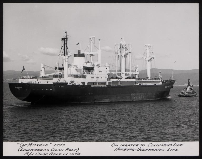 Photograph of Cap Melville (ex Olau Rolg, r/n Limsgield), Olau Line A S card