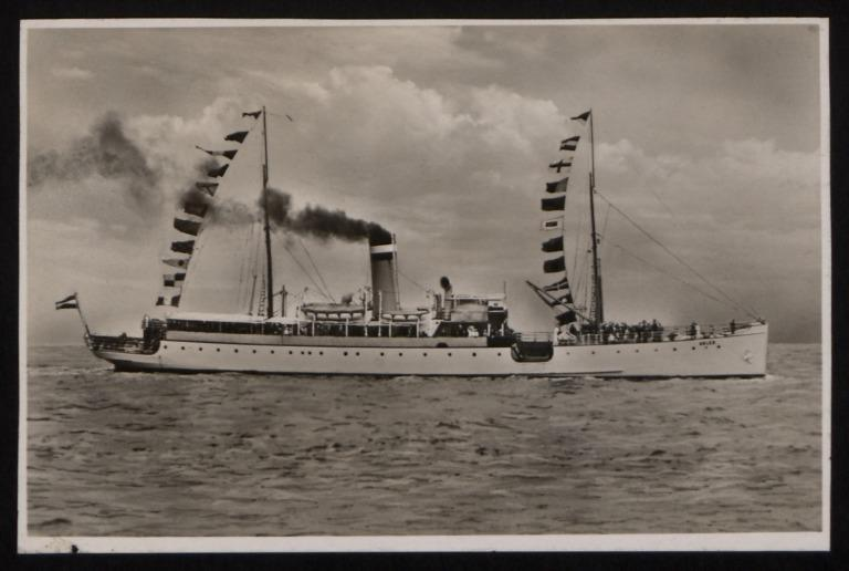 Photograph of Adler, Hamburg Amerika Line card